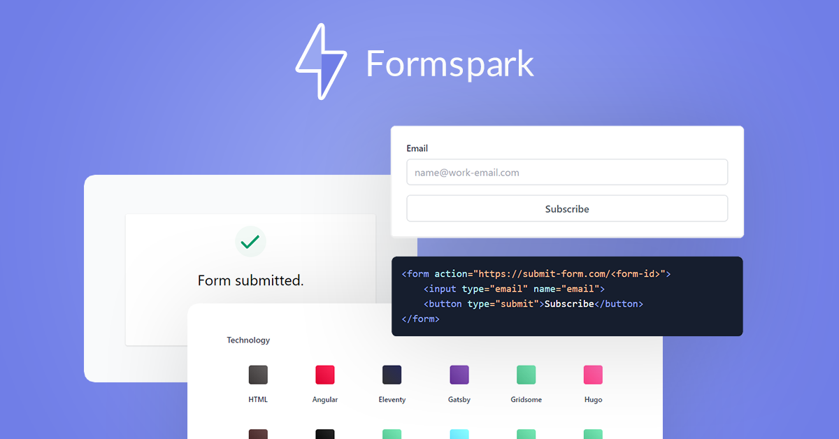 Formspark Lifetime Deal | 82% off | HTML Form to Email